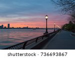 april 2017   sunset view on... | Shutterstock . vector #736693867