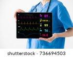 medical technology concept.... | Shutterstock . vector #736694503
