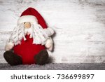 santa claus in christmas... | Shutterstock . vector #736699897