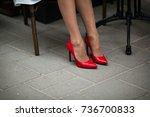 Beautiful Female Legs In Red...