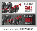 black friday sale banner... | Shutterstock . vector #736708453