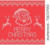 christmas embroidery cross...   Shutterstock .eps vector #736727053