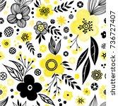 floral seamless pattern design. ... | Shutterstock .eps vector #736727407