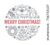 christmas new year banner...   Shutterstock .eps vector #736733137