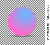 background with round sphere.... | Shutterstock .eps vector #736745773