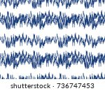 sound waves seamless pattern.... | Shutterstock .eps vector #736747453