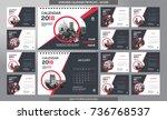 desk calendar 2018 template  ... | Shutterstock .eps vector #736768537