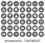 transport icons | Shutterstock .eps vector #736780237