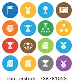winner icons | Shutterstock .eps vector #736781053