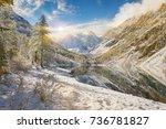 Snow Winter Mountain Lake...