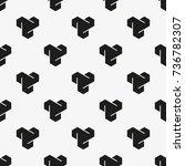 vector seamless pattern. modern ... | Shutterstock .eps vector #736782307