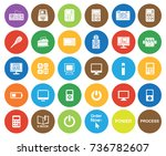 electronics icons | Shutterstock .eps vector #736782607