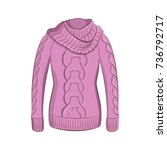 a realistic warm jumper or... | Shutterstock .eps vector #736792717