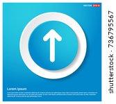 upper arrow icon | Shutterstock .eps vector #736795567