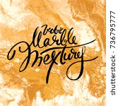 white and golden vector marble... | Shutterstock .eps vector #736795777