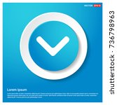 down arrow icon | Shutterstock .eps vector #736798963
