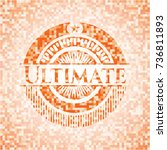ultimate abstract orange mosaic ... | Shutterstock .eps vector #736811893