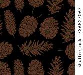 cones vector illustration. drop ... | Shutterstock .eps vector #736827067