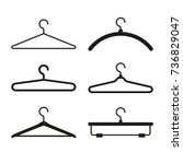 clothes hanger icons set. vector | Shutterstock .eps vector #736829047