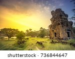 angkor wat temple in cambodia... | Shutterstock . vector #736844647