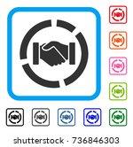 cooperation handshake diagram... | Shutterstock .eps vector #736846303
