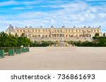 the royal palace of versailles... | Shutterstock . vector #736861693