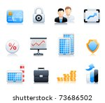 business and finance icons | Shutterstock .eps vector #73686502