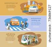 futuristic  vehicle horizontal  ... | Shutterstock .eps vector #736869127