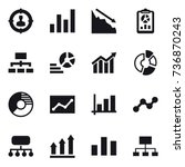 16 vector icon set   target... | Shutterstock .eps vector #736870243