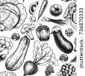 fresh vegetables . vector...   Shutterstock .eps vector #736870333