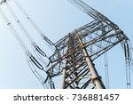 substation equipment and dense...   Shutterstock . vector #736881457