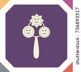 rattle icon  vector design... | Shutterstock .eps vector #736893517