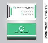 business vector card creative... | Shutterstock .eps vector #736900147