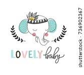 print for nursery. scandinavian ... | Shutterstock .eps vector #736902367