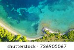 aerial bird's eye view photo... | Shutterstock . vector #736905067