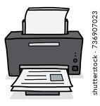 printer   cartoon vector and... | Shutterstock .eps vector #736907023