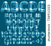 alphabet  letters  numbers and... | Shutterstock .eps vector #736911313