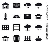 16 vector icon set   warehouse  ... | Shutterstock .eps vector #736913677