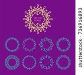 vector abstract frame design...   Shutterstock .eps vector #736916893