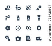 health care icon set in glyph... | Shutterstock .eps vector #736920937