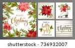 merry christmas template set... | Shutterstock .eps vector #736932007