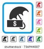dollar umbrella icon. flat gray ... | Shutterstock .eps vector #736944007