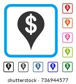 dollar map marker icon. flat...