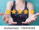 businesswoman on blurred... | Shutterstock . vector #736945183