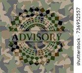 advisory on camouflage texture | Shutterstock .eps vector #736952557