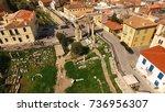 aerial birds eye view photo...   Shutterstock . vector #736956307