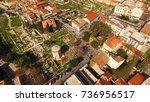 aerial birds eye view photo...   Shutterstock . vector #736956517