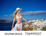 elegant young lady  in... | Shutterstock . vector #736959337