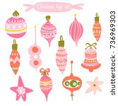 set of vector hand drawn... | Shutterstock .eps vector #736969303