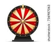 wheel of fortune 3d object... | Shutterstock .eps vector #736987063